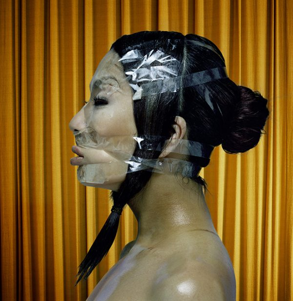 japanese girl tape the face magazine by norbert schoerner