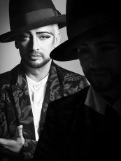boy george, black and white portrait 2017, norbert schoerner.