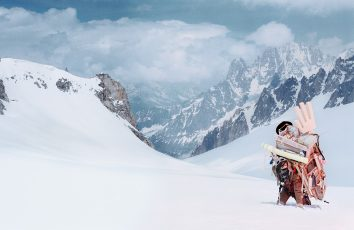 mont blanc mountain traveller another man magazine by norbert schoerner