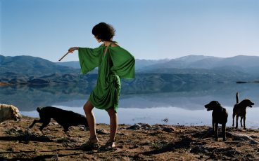 british vogue UK norbert schoerner morocco dogs green dress
